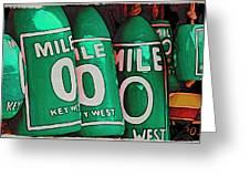 Key West Mile Zero Greeting Card