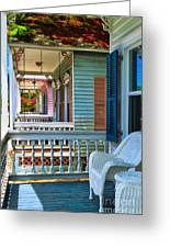 Key West Porches Greeting Card