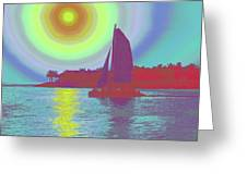 Key West Sun Greeting Card