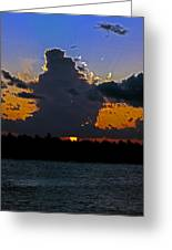 Key West Sunset Glory Greeting Card