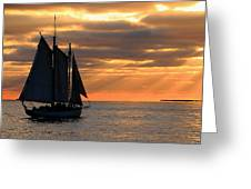 Key West Sunset Sail 6 Greeting Card