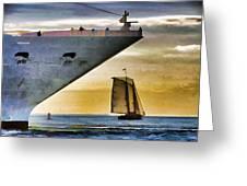 Key West Sunset Sail Greeting Card