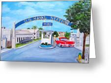 Key West U.s. Naval Station Greeting Card