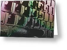 Keyboard In The Abstract Greeting Card