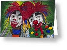 Kid Clowns Greeting Card by Patty Vicknair