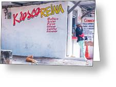 Kiesco Reina Greeting Card