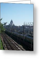 Moscow Kievskaya Train Yard Greeting Card