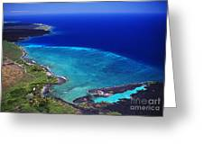 Kiholo Bay Aerial Greeting Card