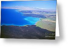 Kiholo Bay, Aerial View Greeting Card