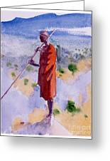 Kikuyu In A Red Cloak Greeting Card