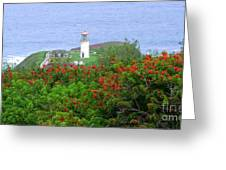 Kilauea Lighthouse Kauai Hawaii Greeting Card