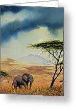 Kilimanjaro Bull Greeting Card