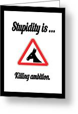 Killing Bigstock Donkey 171252860 Greeting Card