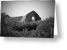 Kilmanaheen Church Ruins Ennistymon Ireland Greeting Card