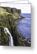 Kilt Rock On The Isle Of Skye Greeting Card