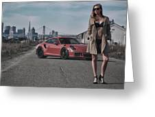 #kim And #porsche #gt3rs #print Greeting Card
