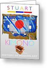 Kimono Poster Greeting Card