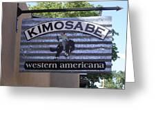 Kimosabe Greeting Card