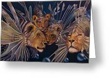 Kindred Lionfish Greeting Card