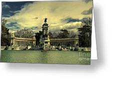 King Alfonso Monument  Greeting Card