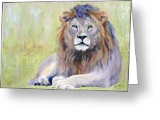 King At Rest Greeting Card