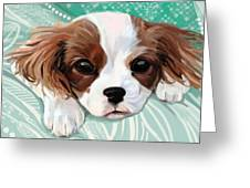 Spaniel Puppy Resting Greeting Card