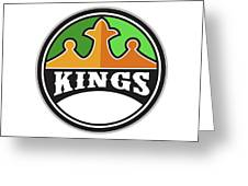 King Crown Kings Circle Retro Greeting Card