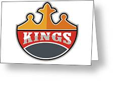 King Crown Kings Retro Greeting Card