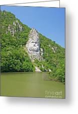 King Decebal, Rock Sculpture Greeting Card