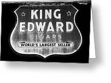 King Edward Cigars Greeting Card