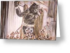 King Kong - Flashbulbs Anger Kong Greeting Card