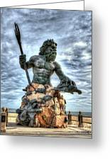 King Neptune Virginia Beach  Greeting Card