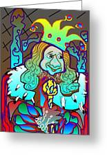 King Of Fools Greeting Card