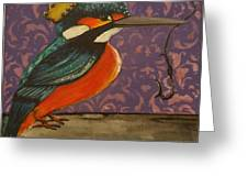 King Of Kingfishers Greeting Card