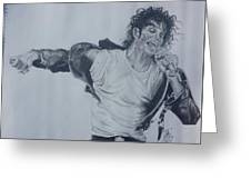 King Of Pop Greeting Card