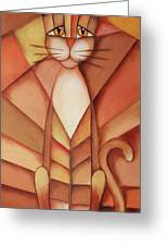 King Of The Cats Greeting Card by Jutta Maria Pusl