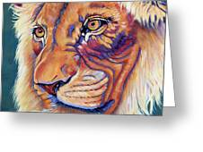 King Of The Lions Greeting Card