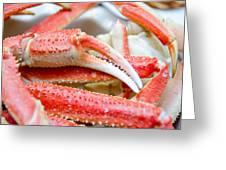 King Snow Crab Legs Ready To Eat Closeup Greeting Card
