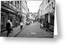 King Street Shopping Area Whitehaven Cumbria England Uk Greeting Card