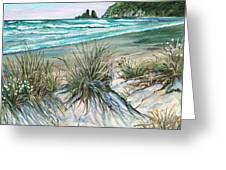 King Tide-whangamata Nz Greeting Card