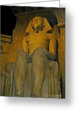 King Tut At The Luxor Hotel Greeting Card