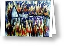 Kingdoms Burn Greeting Card