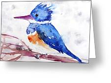 Kingfisher On A Stick Greeting Card