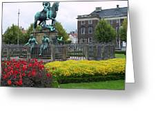 Kings Square Statue Of Christian 5th Greeting Card