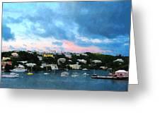 King's Wharf Bermuda Harbor Sunrise Greeting Card