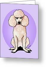 Kiniart Poodle Greeting Card