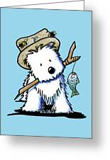 Kiniart Westie Fisherman Greeting Card