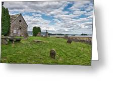 Kinross Cemetery On Loch Leven Greeting Card