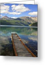 Kintla Lake Dock Greeting Card
