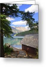 Kintla Lake Ranger Station Glacier National Park Greeting Card by Marty Koch